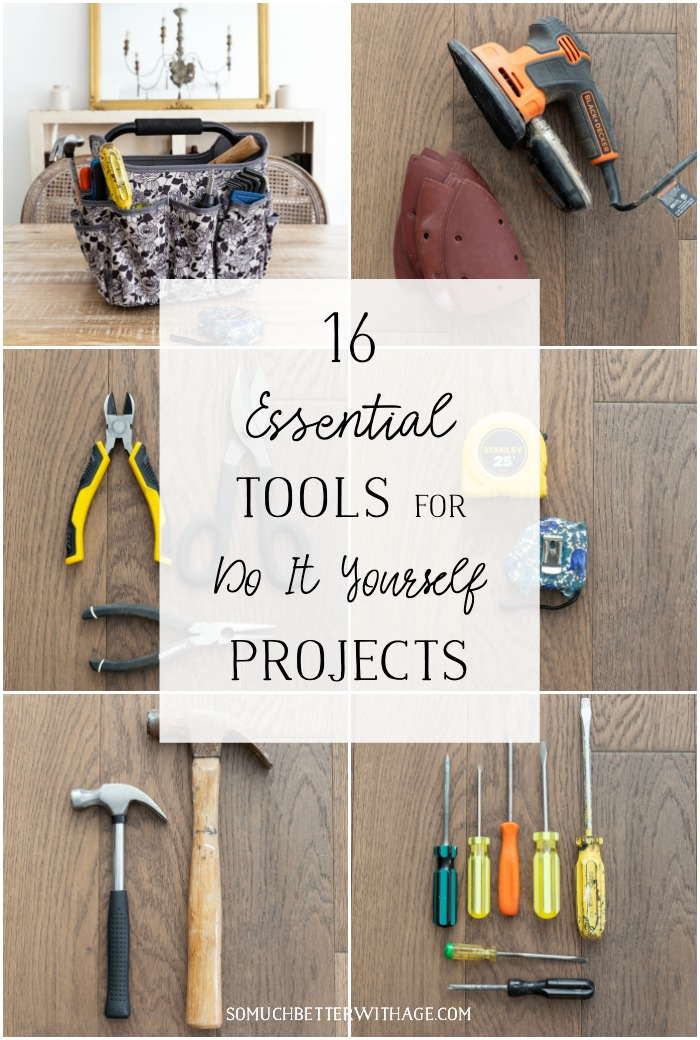 16 Essential Tools for Do-It-Yourself Projects graphic.