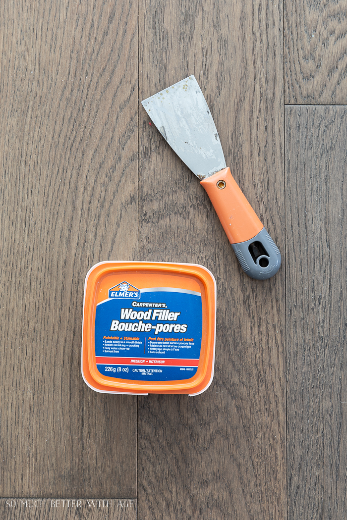 16 Essential Tools for Do-It-Yourself (DIY) Projects/wood putty and putty knife - So Much Better With Age