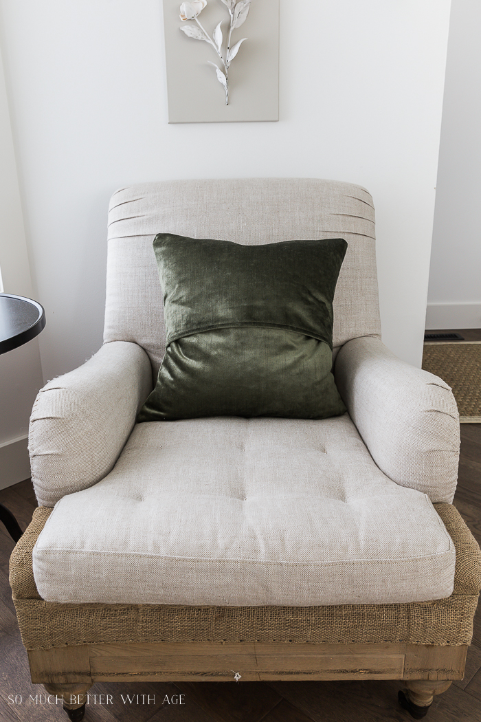Change Your Decorative Pillows Seasonally & Pillow Cover Tutorial/French chair - So Much Better With Age