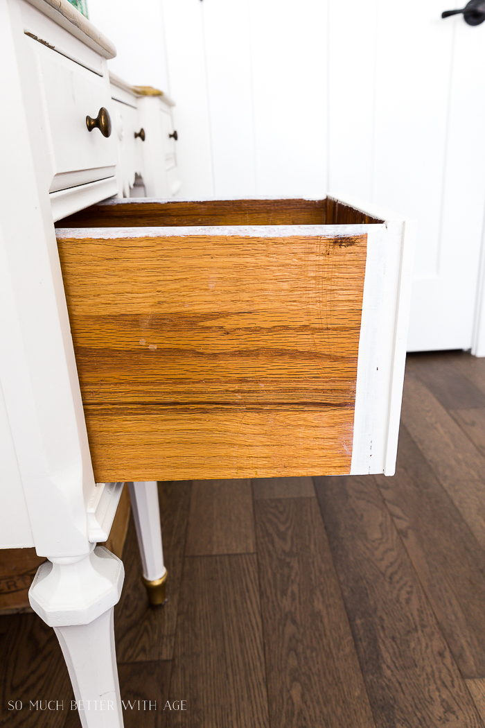 How to Paint Furniture for a Professional Look/don't paint drawers if they stick - So Much Better With Age