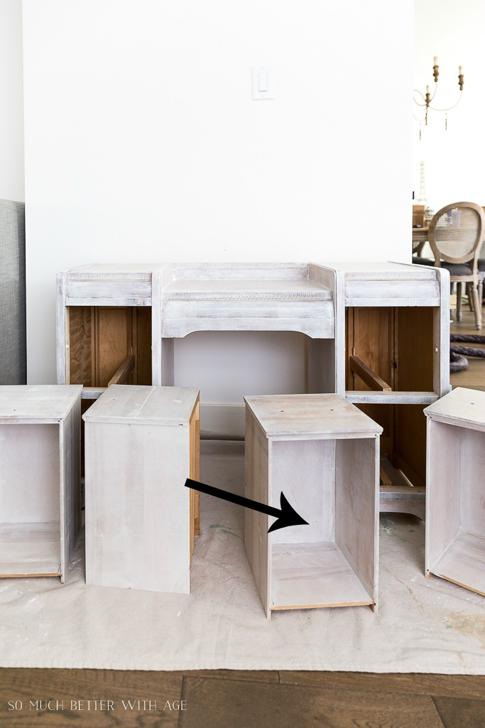How to Paint Furniture for a Professional Look/painted drawers - So Much Better With Age