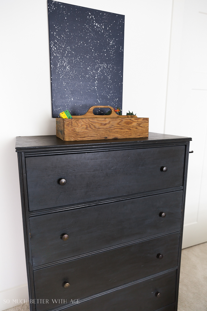 How to Use Dark Wax on Furniture / grey dresser - So Much Better With Age
