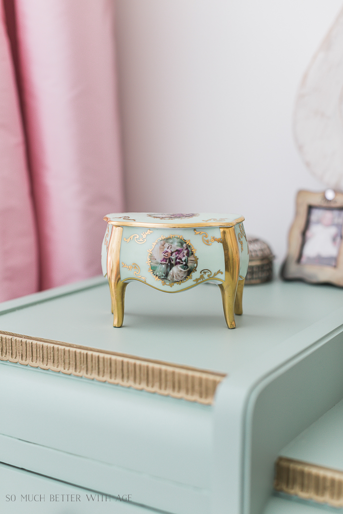 Sweet Details of My Little Girl's French Bedroom/French limoges - So Much Better With Age