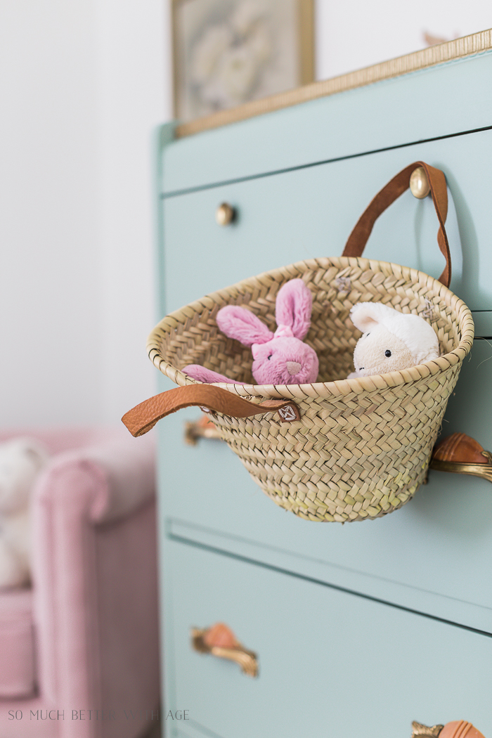 Sweet Details of My Little Girl's French Bedroom/child's French basket - So Much Better With Age