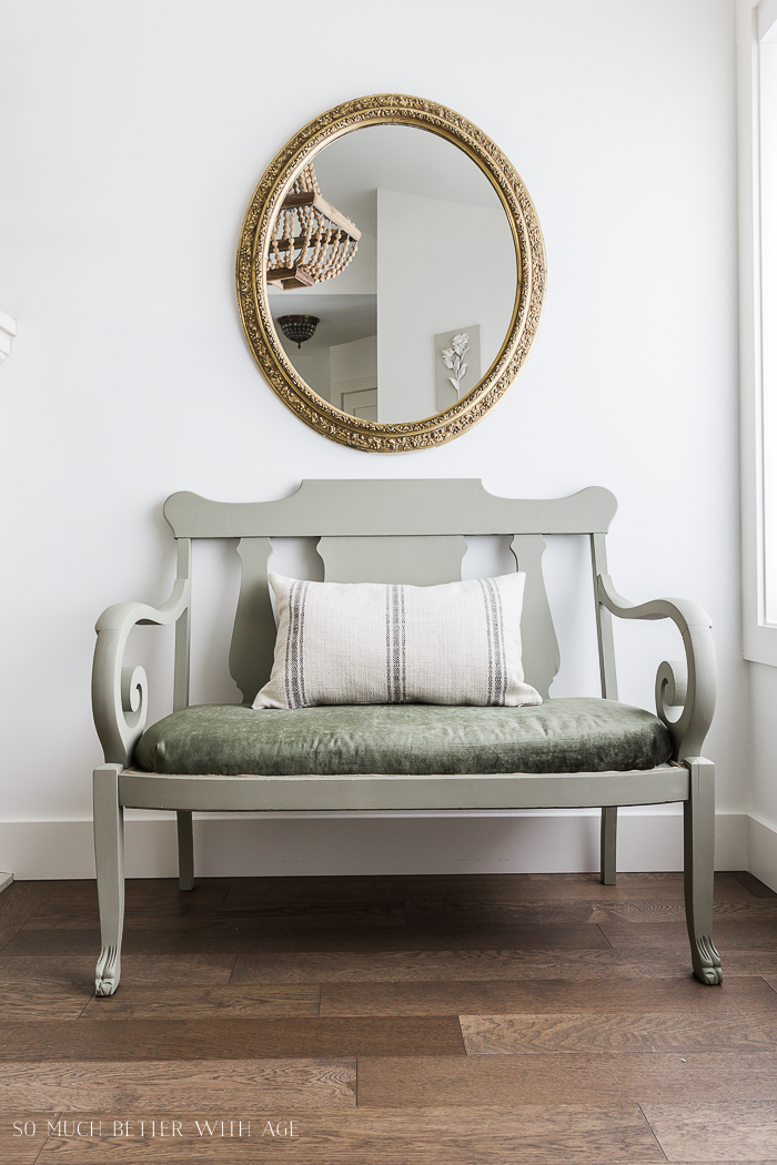 Settee Makeover - How to Upholster a Bench Seat - So Much Better With Age