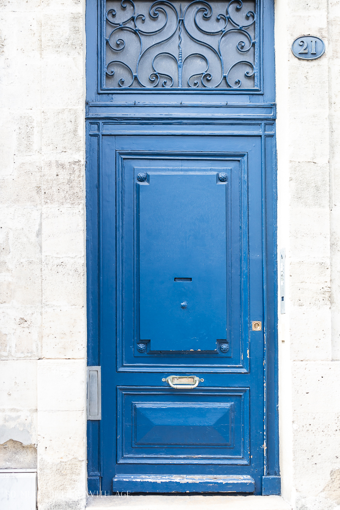 Blue door in France.