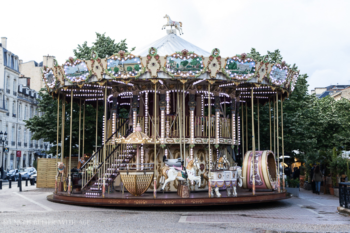 An old carousel in the city.