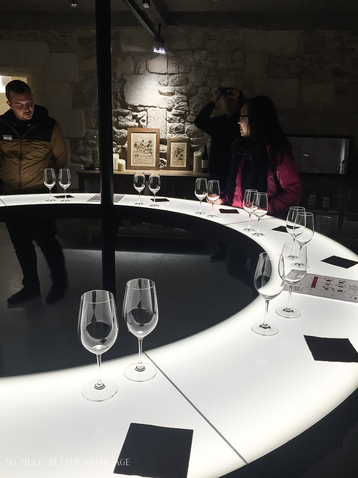 Why You Must Visit Bordeaux/wine sampling room - So Much Better With Age