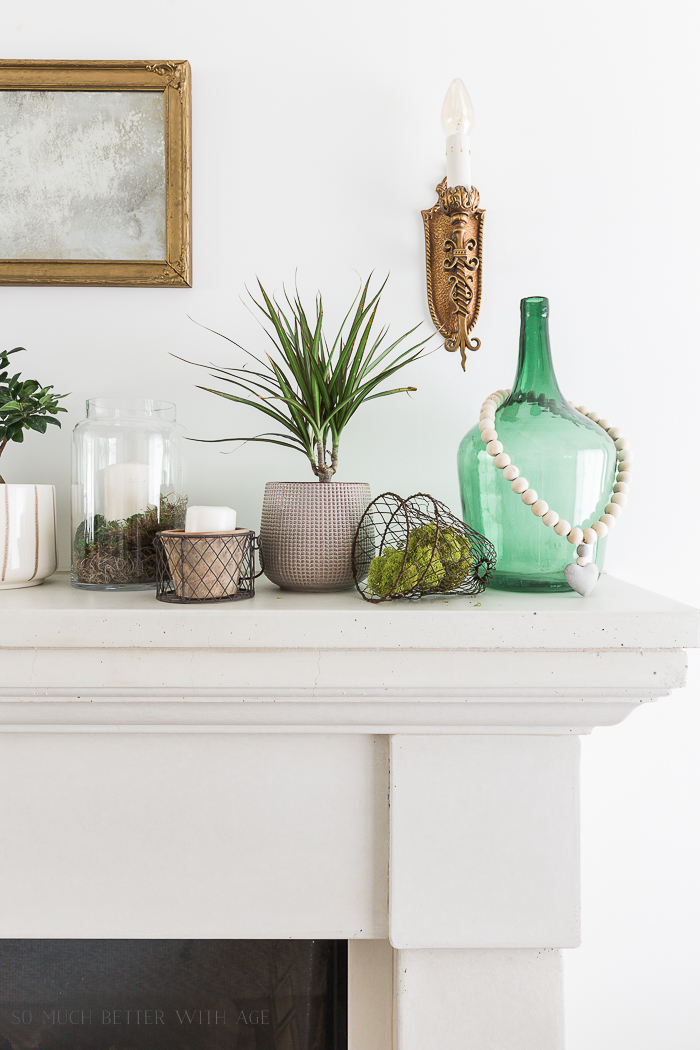 Creative Greenery Spring Mantel/green demijohn - So Much Better With Age