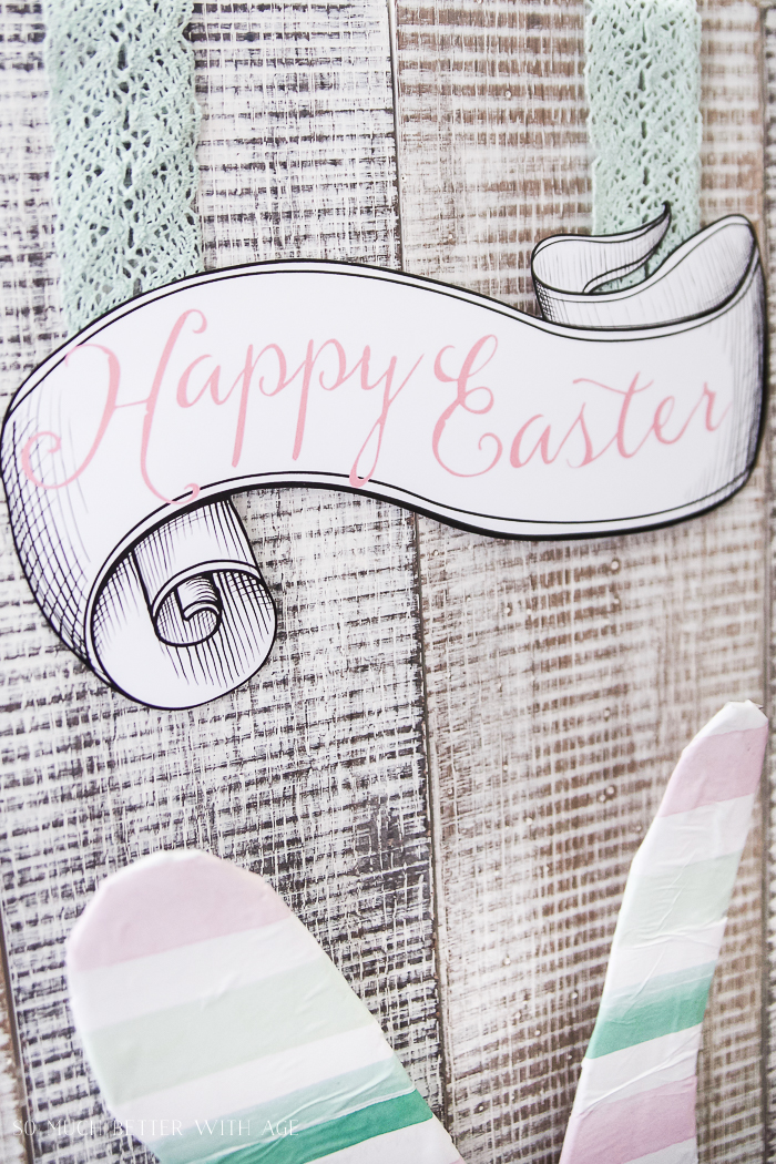 12 Creative Easter Decorating Ideas/Happy Easter printable - So Much Better With Age