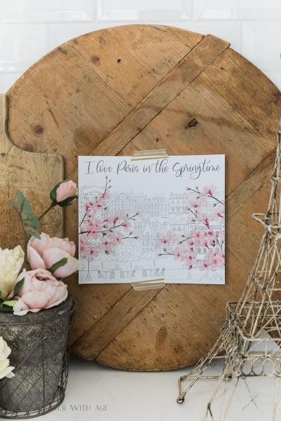 I Love Paris in the Springtime Printable