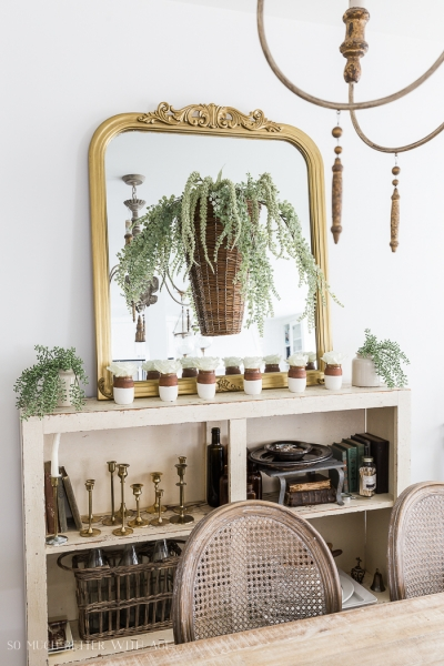 Paint Dipped Pots & Spring Greenery
