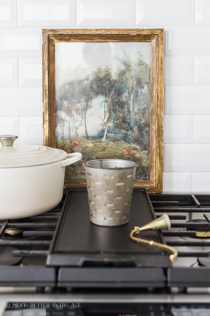 Simple Spring Decor Ideas/vintage art - So Much Better With Age