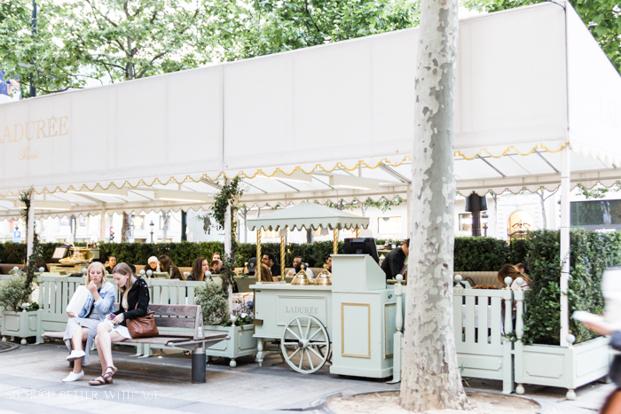 Top 10 Things to See & Do Your First Time in Paris/Laduree patio on Champs Elysees - So Much Better With Age