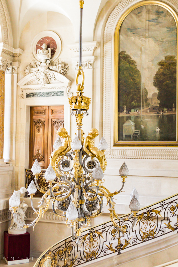 Top 10 Things to See & Do Your First Time in Paris/chandelier in Louvre - So Much Better With Age
