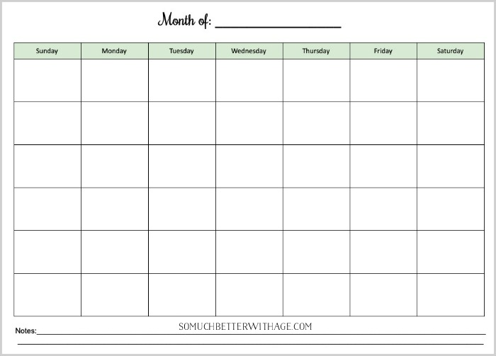Co-Parenting Schedules - Free Printables/monthly schedule - So Much Better With Age