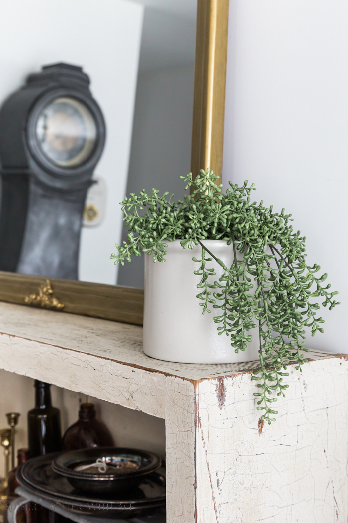 Crock (or Pottery) from Thrift Store Canister/plant pot - So Much Better With Age