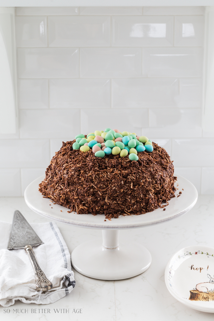 Chocolate Easter Egg Nest Cake/Cadbury mini eggs on cake - So Much Better With Age