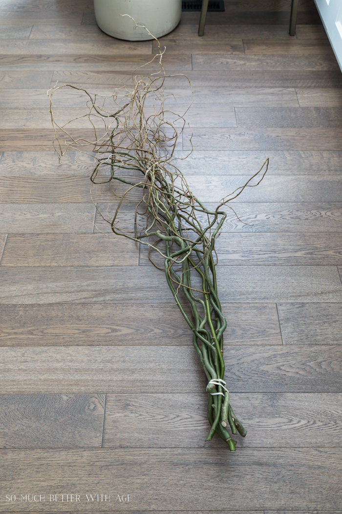 How to Make an Easter Egg Tree/curly willow branches - So Much Better With Age