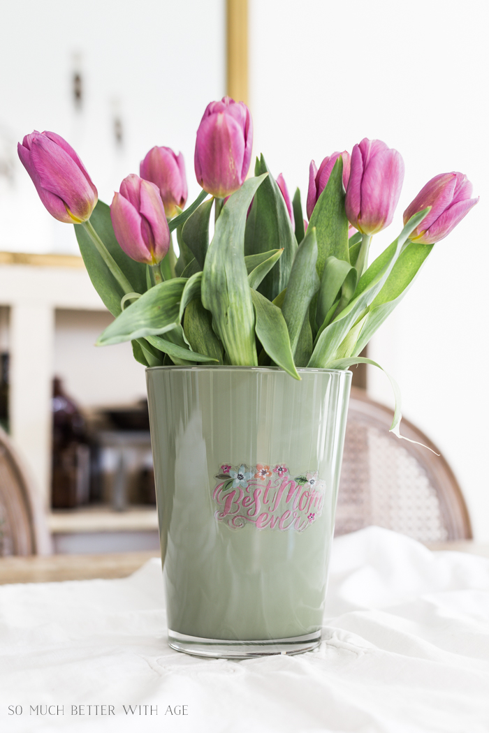 Mother's Day Painted Vase | So Much Better With Age- Home Style Saturday