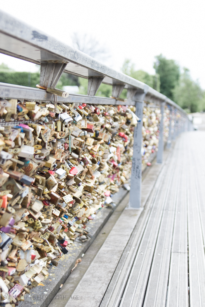 Top 10 Things to See & Do Your First Time in Paris/love locks on bridge - So Much Better With Age