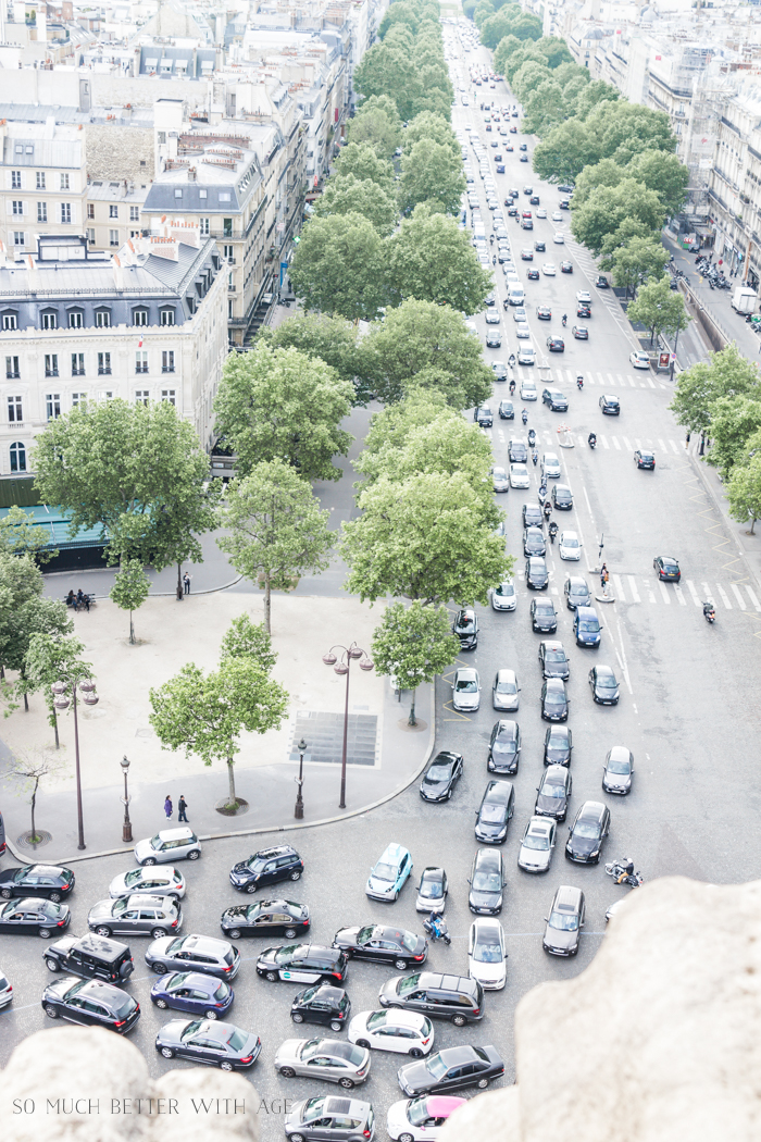 Top 10 Things to See & Do Your First Time in Paris/traffic below Champs Elysees - So Much Better With Age