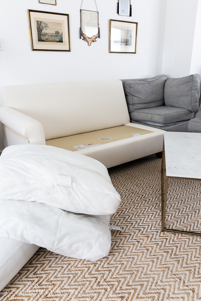 Honest Review of Pottery Barn's Slipcovers in Premium Performance/removed slipcovers from sectional - So Much Better With Age