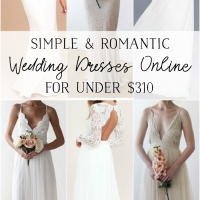 Simple and Romantic Wedding Dresses Online for Under $310