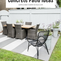 10 Painted Concrete Patio / Floor Ideas