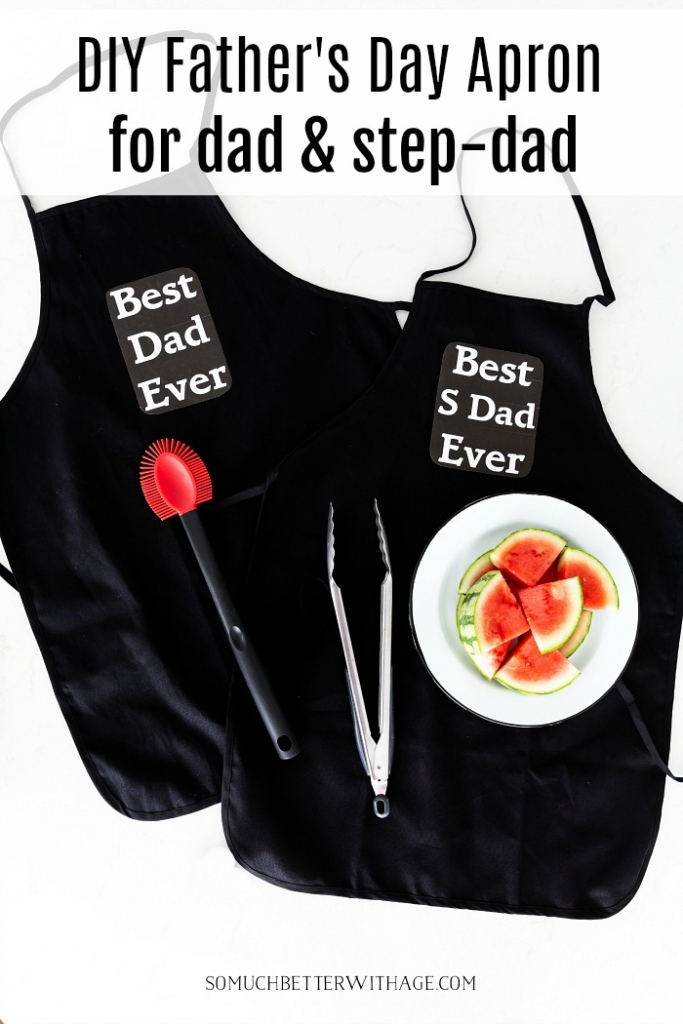 DIY Father's Day apron for dad and step-dad.