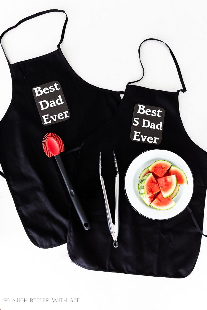 Best Dad Ever black apron.