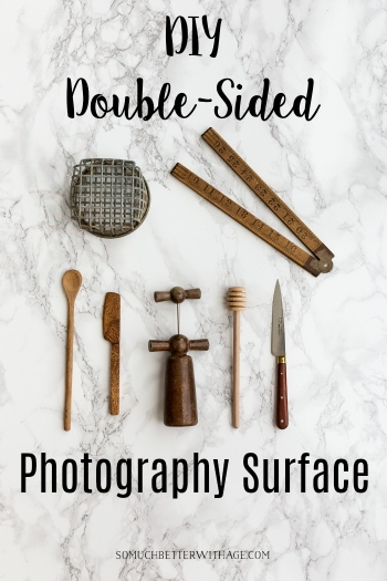 DIY Double-Sided Photography Surface - Marble