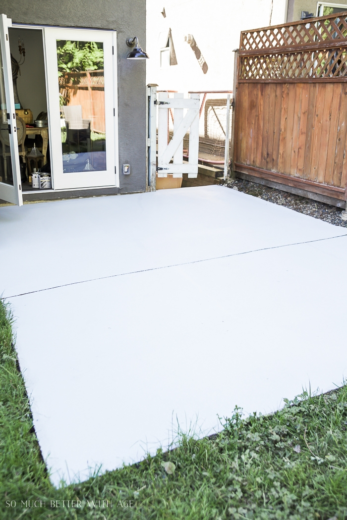 A clean concrete slab ready to be painted.