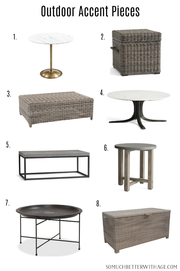 Outdoor accent pieces