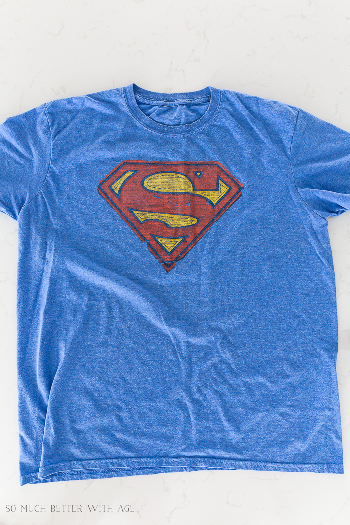 Superman shirt.