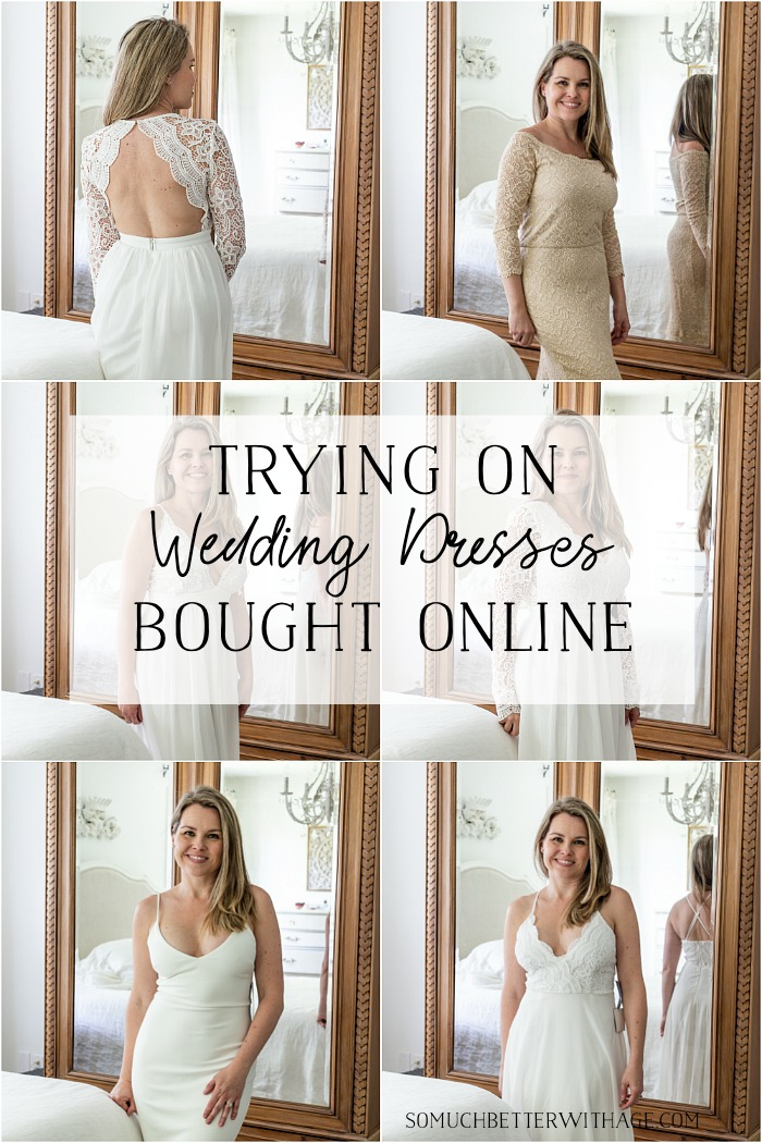Trying On Wedding Dresses Bought Online