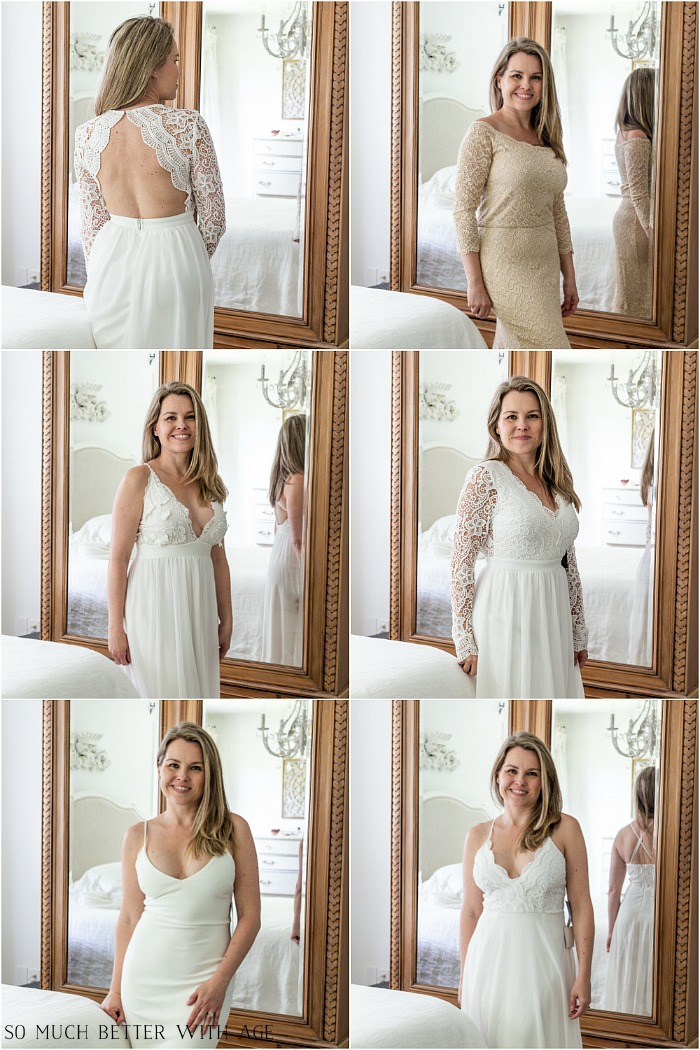 Trying On Wedding Dresses Bought Online So Much Better