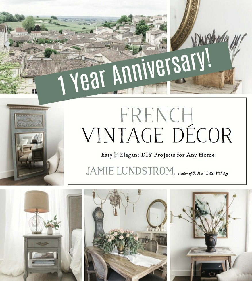 French Vintage Decor book one year anniversary.