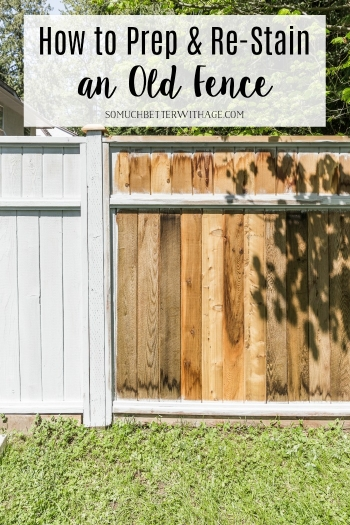 How to Prep and Re-Stain an Old Fence.