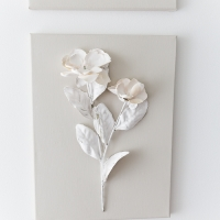 Plaster Dipped Flower Art Video