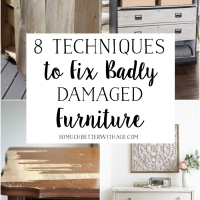 8 Techniques to Fix Badly Damaged Furniture + Video