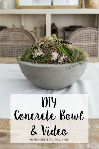 DIY Concrete Bowl and Video.