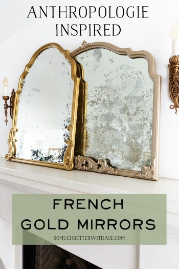 Anthropologie Inspired French Gold Mirrors