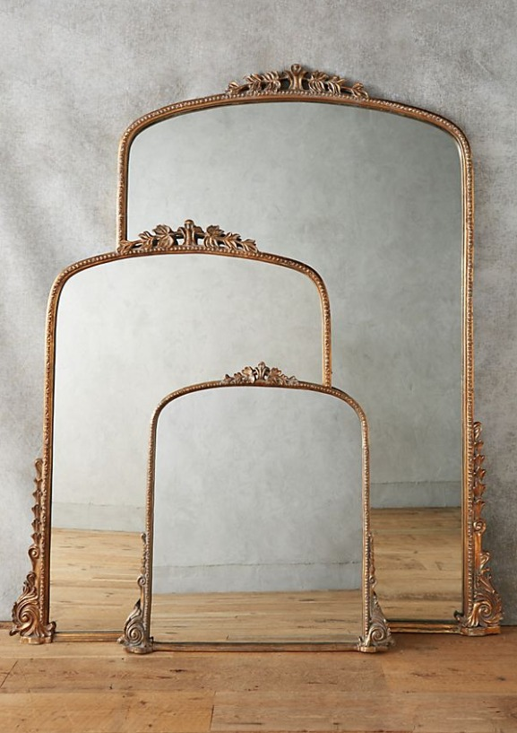 Anthropologie Gleaming Primrose gold mirror.