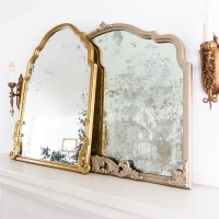 Anthropologie Inspired DIY French Gold Mirror