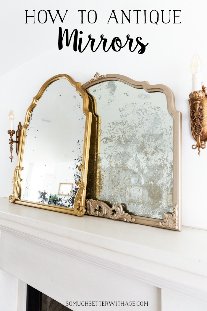 How to antique mirrors.