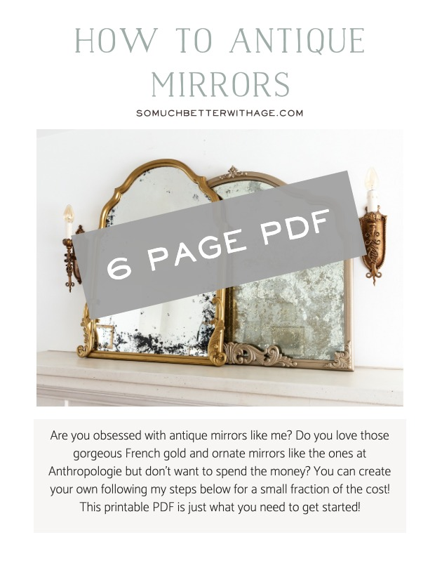 6 page PDF download of 'how to antique mirror' guide.