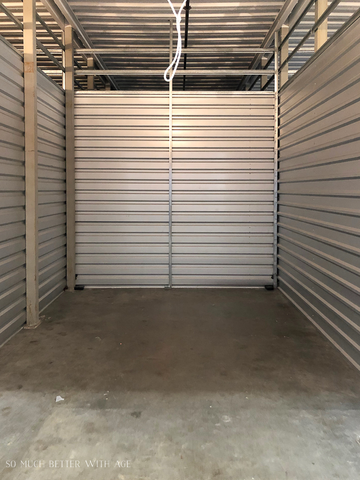 Empty storage unit.