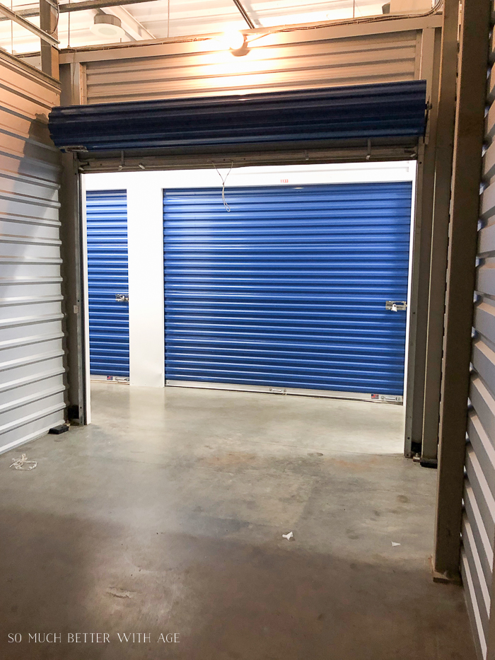 Empty storage locker.