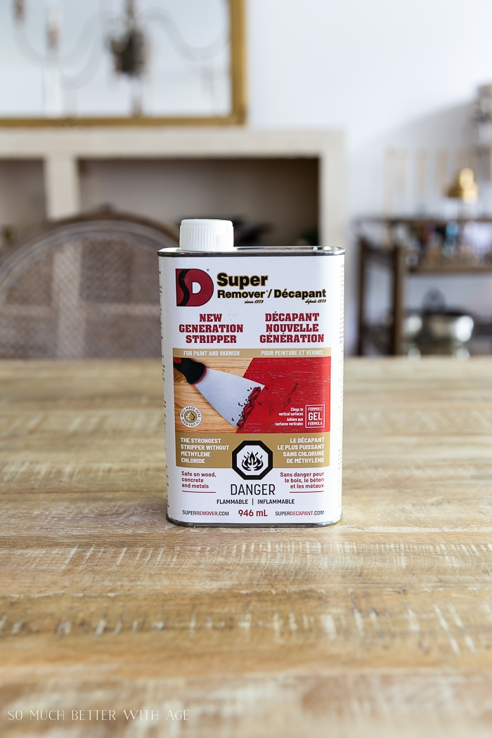 Paint remover called D Super Remover.